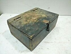Vintage Old Rare Hand Crafted Wooden Jewellery / Merchant's Money Box