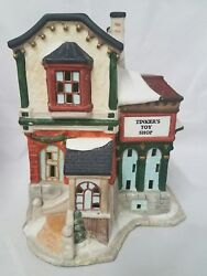 Vintage Christmas Village Town Tinkers Toy Shop Store Holiday Decor