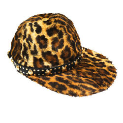 Gianni Versace Leather And Faux Animal Fur Studded Medusa Head Cap From Fw 1992/93