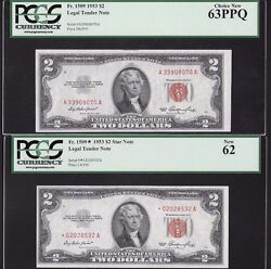 Complete Lot Of 12 2 Legal Tender Notes Red Seal Pcgs Graded All New