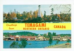 Greetings From Temagami Ontario—rare Vintage Nipissing Multiview 1950s