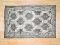 6and0393x9and03910 Vintage Natural Colors Handknotted Tribal Oriental Rug G45339