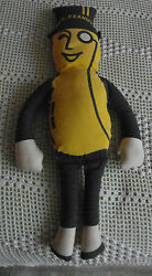 Vintage ♡ Stuffed Doll ♡ Advertising Planters Mr Peanut ♡ 21 Inches Tall