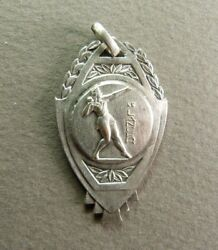 French Art Deco Plated Silver Medal Sport Shot Put Contest Hallmarked 勋章