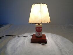 Rare One Of A Kind Krueger Beer Can Lamp With Fiberglass Shaded