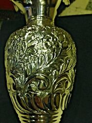 Antique Hand Made Solid Silver Vase Hammered Silver S900 480 G
