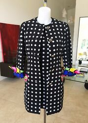 GIANNI VERSACE COUTURE iconic polka dot dress & jacket size 8 from 1991