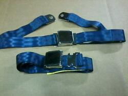 Blue Lap Seat Belt Vintage Mustang Fastback Shelby Convertible Boss 302 289 351