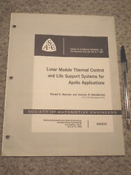 Apollo Technical Manual/ Apollo Thermal Control And Life Support Systems