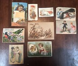 Lot Of 91800's Victorian Advertising Trade Card Lot Great Colors