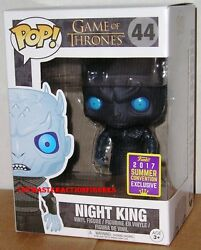 Funko Pop Sdcc 2017 Game Of Thrones Night King 44 Translucent W/cube In Stock