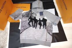 Louis Vuitton off-white Virgil Abloh Hoody Parker Gray POP UP Auth Limited Rare