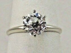 14k Solid White Gold 3/4ct Diamond Wedding Ring Size 7.5 Sale-save 1000. R427