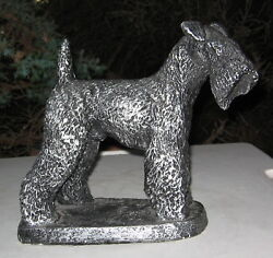 KERRY BLUE TERRIER LARGE HEAVY STATUE AUSTIN CANADA