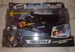 2008 Mattel Batman Fire Cycle - Rev And Go Motor - Aim And Fire Rare- Sold Out 2