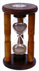 Antique Wood Hourglass Sand Timer Five Minute Hourglass