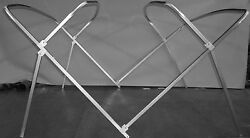 Pontoon Boat Bimini Frame - 1.25 Square Tubing 8and039 X 10and039 Front Braces