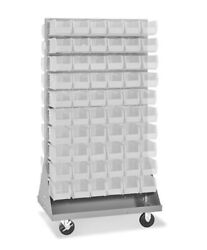 Uline Mobile Stackable Bin Organizer And Bins-choose Yours