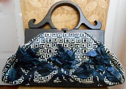 Anthony Luciano-one Of A Kind Leather Creme And Black Handbag-collectable