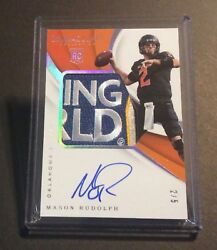 2018 Immaculate Mason Rudolph Camping World Bowl Patch Auto 2/5 Jersey