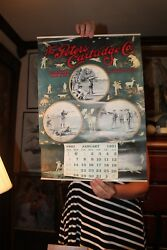 1901 Peters Cartridge Company Vintage 1991 Reproduction Calendar Hunting