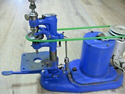 Vintage Small Vertical Watchmaker Jeweler Milling Lathe With Collets Drill