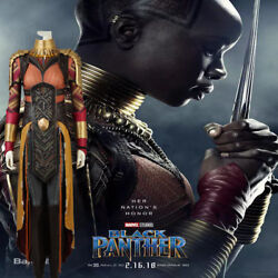 High Quality New Movie Okoye Cosplay Costume Full Suit Hallowmas Clothing Suit