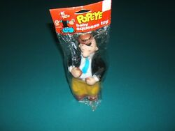 Vintage Popeye Toy 9 Wimpy Figure Squeak Toy '79 King Features Original Bag