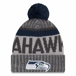 Seattle Seahawks Nfl Adult Men's New Era Official Sport Gray Beanie - Nwt