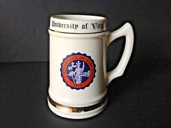 Vintage University Of Virginia Founded 1819 Large Beer Stein Mug Made In Usa