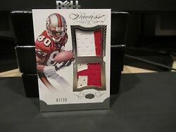 Panini Flawless Blue Dual Patches Jersey 49ers Jerry Rice 07/20 2015