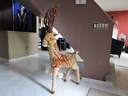 51 High Vintage Plush Animated Reindeer Electrically Operated Excellent Cond