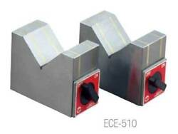 Earth-chain Ece-510 3.9 X 2x 3.1 Magnetic V-block Set-holding Power 44 Lbs.