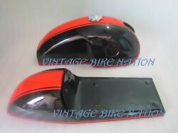 New Benelli Mojave Cafe Racer Dual Painted Petrol Tank With Seat Hood Pair And Cap