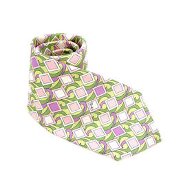 Emilio Pucci Neck Tie Pink Green Woman Authentic Used Y491