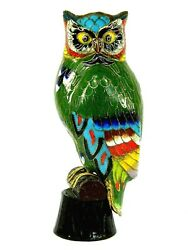7 Tall Cloisonne Copper Enamel Bird Owl Statue Figurine,decoration And Collection