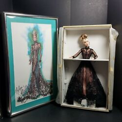 Limited Edition Nolan Miller Sheer Illusion Barbie Signed Reproduction Sketch