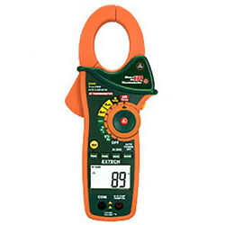 Extech Ex840 Trms Ac/dc Clamp/dmm And Ir Thermometer 1000v 1000a Cat Iv