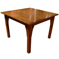 Crafters And Wears Mission Style White Oak Square Dining Table Walnut
