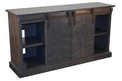 Crafters And Weavers Mason 65 Sliding Tv Stand - Vintage Pewter