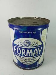 Formay Shortening Tin Can Three Pounds Vintage Sealed Full