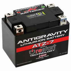 Antigravity Ag-atz-7-rs Re Start Lithium Ion Motorcycle Battery W/ Bms 150 Cca