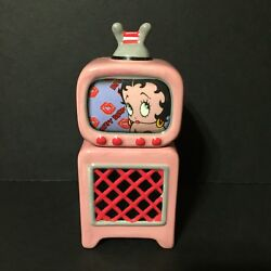 2003 Pink Betty Boop Tv And Tv Stand Salt And Pepper Shakers