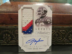 Panini Flawless Autograph Jersey Greats Giants Auto Lawrence Taylor 23/25 2014