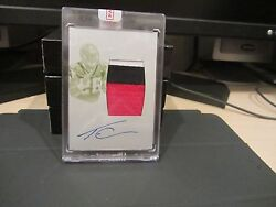 National Treasures Printing Plate Autograph Jrsy Falcons Tevin Coleman 1/1 2015