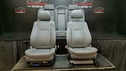 2006 Bmw 750i Power Front Bucket And Rear Seat Leather Gray Interior Trim Code Fa