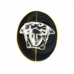 Versace Ring Medusa Gold Silver Woman Unisex Authentic Used T9038