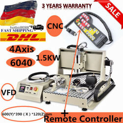 CNC 6040 Router 4Axis 1500W Engraving Milling Drilling Carving Machine Cutter+RC