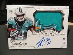 National Treasures Rookie Autograph Jersey Dolphins Jarvis Landry 54/99 2015