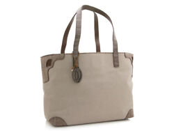 Cartier Marcello Tote Bag MM Beige Fabric and Snakeskin Leather Model L1001443